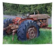 Retired Tractor Tapestry