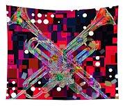 Retro Trumpets Tapestry