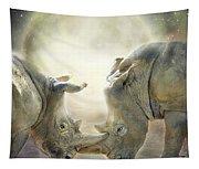 Rhino Love Tapestry