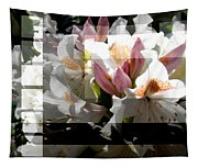 Rhododendron Collage Tapestry