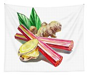 Rhubarb And Ginger Tapestry