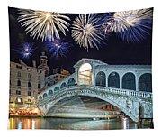 Rialto Bridge Fireworks Tapestry