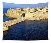 Ricasoli Breakwater At Valletta's Grand Harbor Tapestry