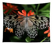 Rice Paper Butterfly Elegance Tapestry