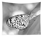 Rice Paper Butterfly Resting For A Second Tapestry
