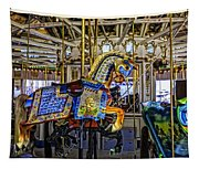 Ride A Painted Pony - Coney Island 2013 - Brooklyn - New York Tapestry