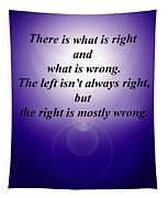 Right And Wrong Tapestry