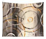 Rings Of Gold Abstract Painting Tapestry