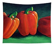 Ripe Red Peppers Tapestry