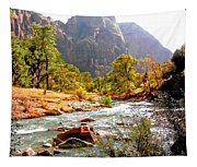 River In Zion National Park Tapestry