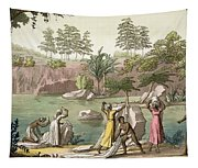 River Near San Benedetto, Madagascar Tapestry