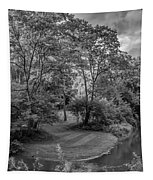 River Tranquility Monochrome Tapestry