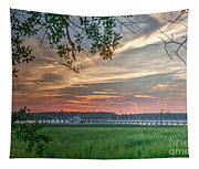 Rivertown Sunset Tapestry