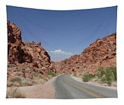 Road Throught The Valley Of Fire Tapestry