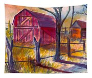 Roadside Barn Tapestry