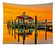 Roanoke Lighthouse Dawn Tapestry