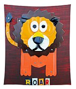 Roar The Lion License Plate Art Tapestry by Design Turnpike