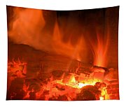 Face In The Fire Tapestry