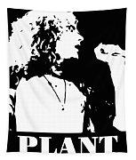 Robert Plant Black And White Pop Art Tapestry