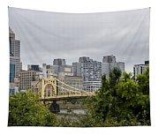 Roberto Clemente Bridge Pittsburgh Pa Tapestry