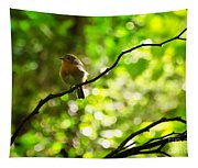 Robin In The Glade Tapestry