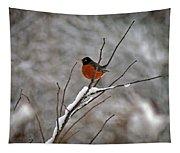 Robin In Winter Tapestry