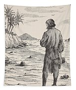 Robinson Crusoe On His Island Tapestry