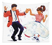 Rock And Roll Dancers Tapestry