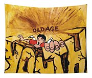 Rock Climbing Cartoon Tapestry