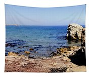 Rock Formations On The Beach, Marcona Tapestry