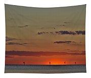 Rock Harbor Sunset 6 Tapestry