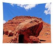 Rock House In Arizona Tapestry