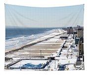 Rockaway Beach During Arctic Vortex Tapestry