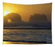 Rockaway Beach Oregon Turning The Sky To Gold Tapestry