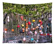 Rockport Fishing Net And Buoys Tapestry