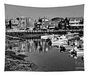 Rockport Harbor - Bw Tapestry