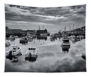 Rockport Harbor View - Bw Tapestry