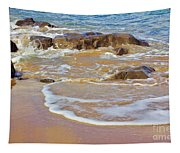 Rocks And Waves Tapestry
