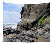 Rocks At Arcadia Beach Tapestry
