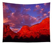 Rocks At Sunset Sedona Az Usa Tapestry