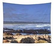 Rocks Before Beach Tapestry