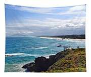 Rocks Ocean Surf And Sun Tapestry