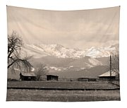 Rocky Mountain Lafayette Sepia Views Tapestry