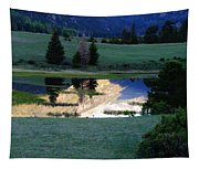 Rocky Mountain Reflection Tapestry
