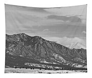 Rocky Mountains Flatirons And Longs Peak Panorama  2 Tapestry