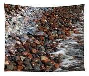 Rocky Shoreline Abstract Tapestry