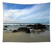 Rocky Shoreline At Spanish Bay Tapestry