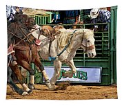 Rodeo Action Tapestry