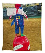 Rodeo Barrel Clown Tapestry