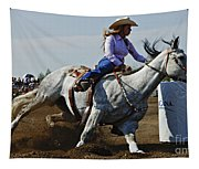 Rodeo Barrel Racer Tapestry